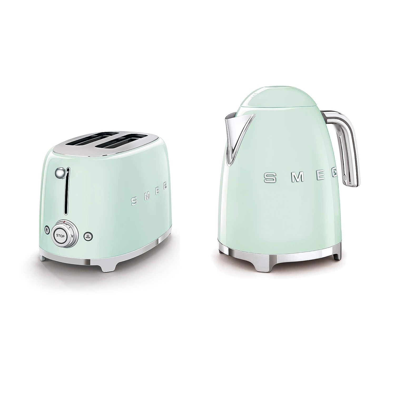 WhoIs Camera Smeg 2-Slice Toaster & 1.7-Liter Kettle in Pastel Green