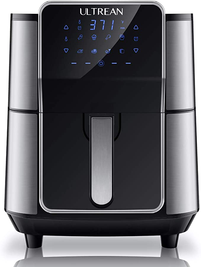 Amazon.com: Ultrean 6 Quart Air Fryer, Stainless Steel Design Digital Air Fryer Oven Cooker with 8 Presets, One-Touch LED Screen, Non-Stick Basket, UL Certified, Cook Book, 1-Year Warranty, 1700W: Kitchen & Dining
