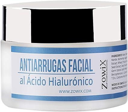 ZOWIX Crema Facial Antiarrugas para Piel Seca y Mixta. Crema Antiedad, Hidratante y Nutritiva con Acido Hialuronico ...