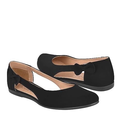 STYLO Zapatos DE Piso para Mujer 160 Negro  Amazon.com.mx  Ropa ... d52be82101bb