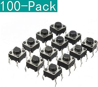 0036 Minitaster boutons poussoir microtaster Palpeur 6x6x10mm on-off 10 Pièce