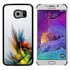 Paccase / SLIM PC / Aliminium Casa Carcasa Funda Case Cover para - Crayon Drawing Colors Bird - Samsung Galaxy S6 EDGE SM-G925