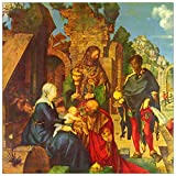 ArtPlaza TW93192 Albrecht Durer - Adoration of The Magi Decorative Panel 31.5x31.5 Inch Multicolored