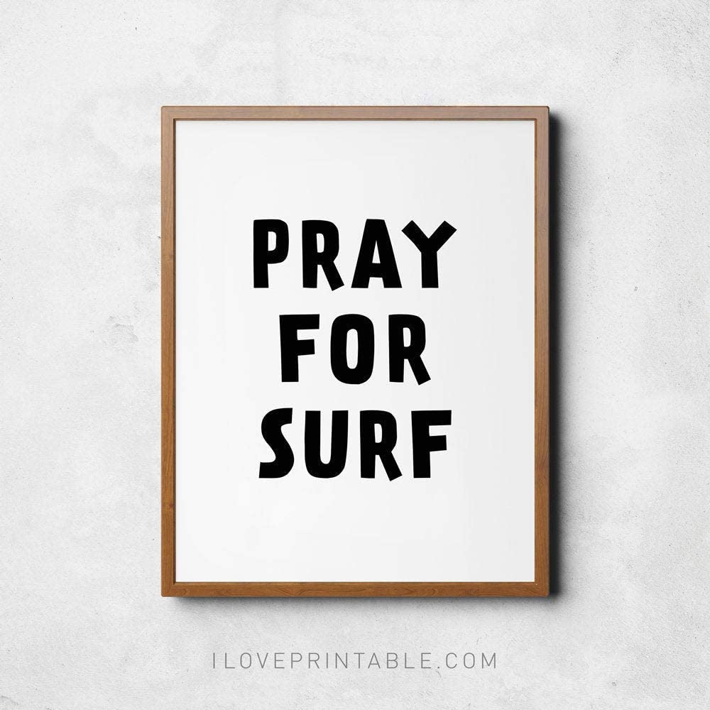 Surf More Printed Handmade Wood Ornament Small Sign