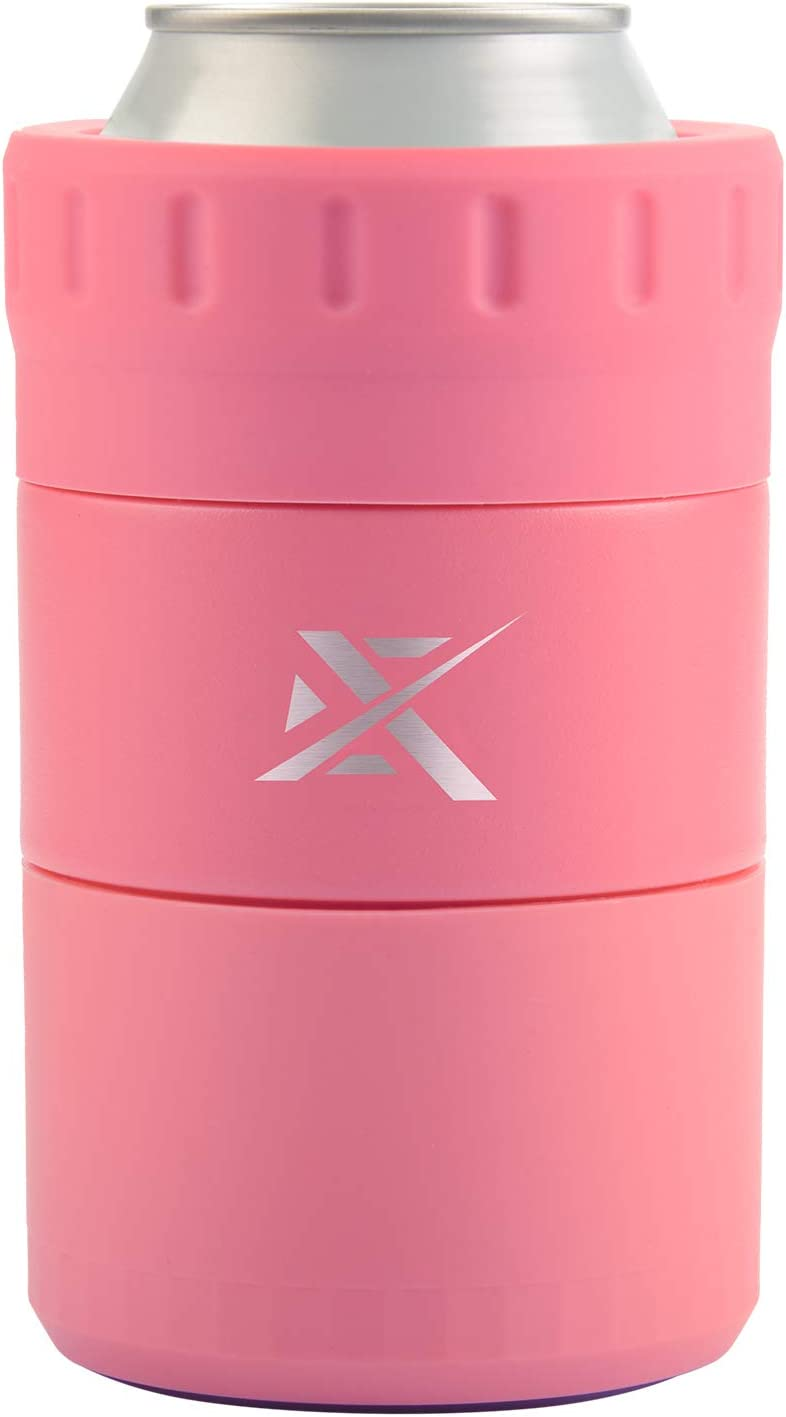 Extremus Non-Tipping Suction Cup Can Cooler – Double Stainless Steel Wall Isolate Cold Beverages From The Outer Surface - Pastel Pink
