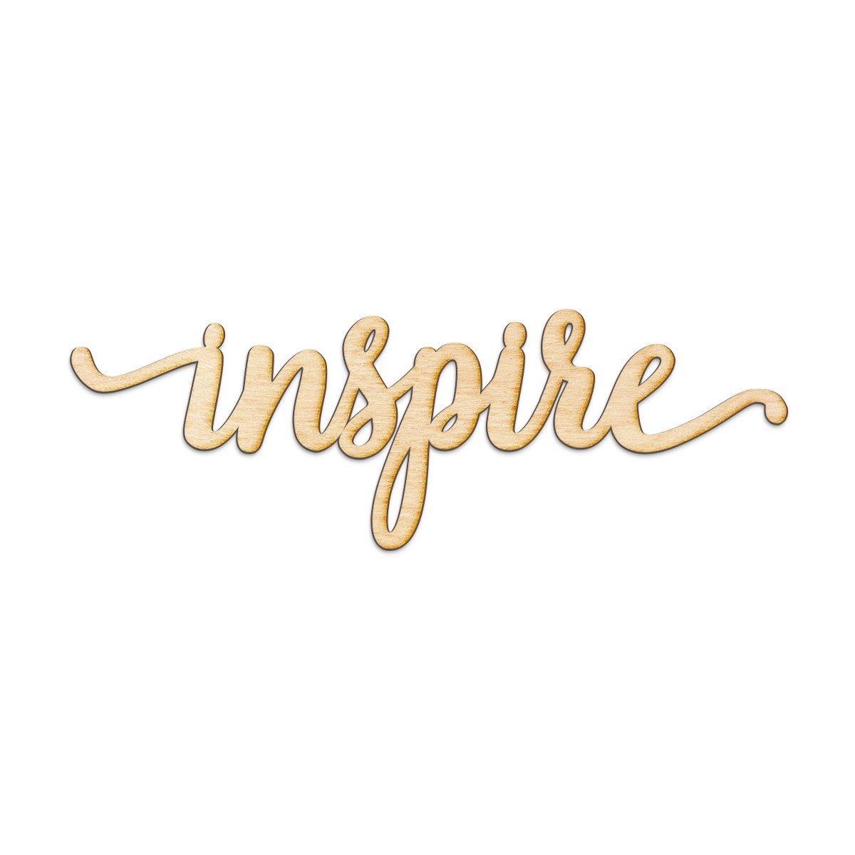"""Inspire Script Wood Sign Home Decor Wall Art Unfinished Charlie 12"""" x 4"""""""