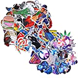 135 Pcs Stickers Pack Variety - Galaxy Style Vinyl Decals DIY - for Teens Laptop Skateboard Car Luggage Motorcycle Bicycle Graffiti Computer Keyboard