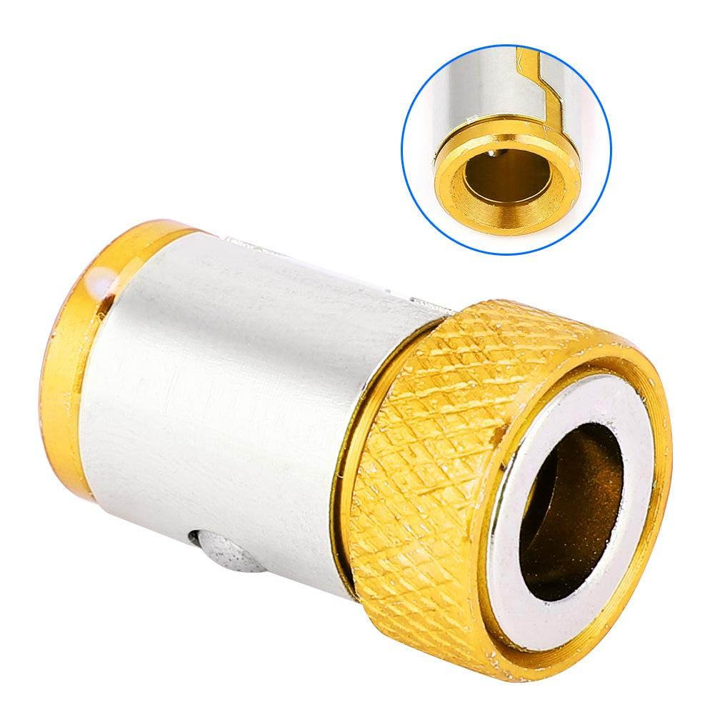 5Pcs Destornillador Anillo Magn/ético Antideslizante Accesorios de Aleaci/ón de Aluminio Para 1//4 Destornillador Bits Para Herramienta El/éctrica de Tornillo de Mano Amarillo