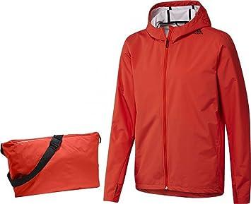 Red Adidas Clima Refresh Transformer Mens Wind Rain Proof Training Jacket