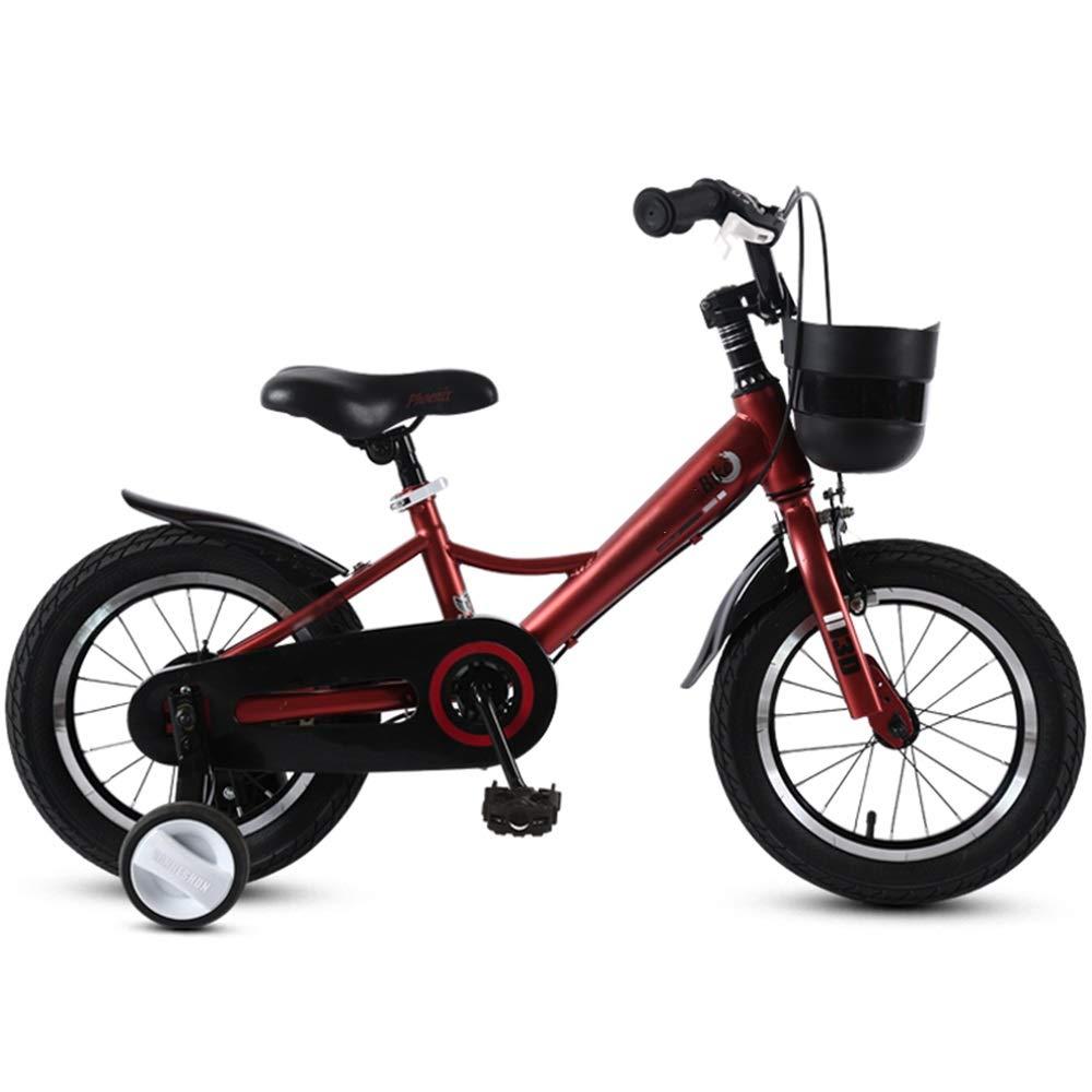 Axdwfd Bici per bambini Biciclette per bambini Biciclette per bambini Ragazzi e ragazze Ciclismo, Ruote di allenamento per 12 14 16 18 pollici Bicicletta Adatto ai bambini 2-9 anni Nero Blu Rosso Marr