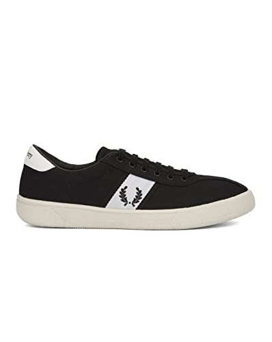 Fred Perry Men's Tennis Shoe 1 Canvas Black 6.5 ...