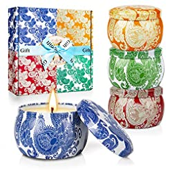 Y YUEGANG Scented Candles Gifts Set for ...