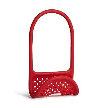 Umbra Sling Flexible Sink Caddy, Non-slip – Holds Sponge, Scrubbing Brush or Dishrag, Red