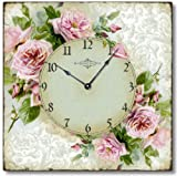 Item C6120 Vintage Style Romantic Shabby Roses Clock Review