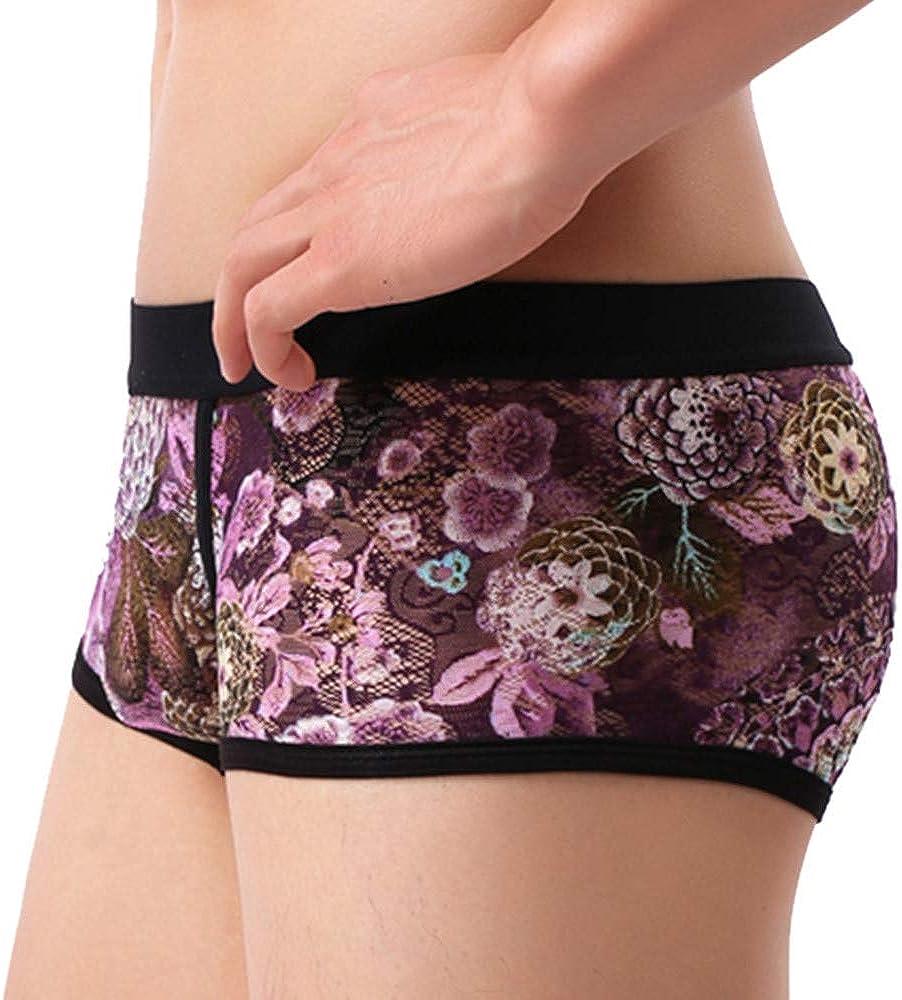 Panties Shorts Bulge Pouch Solid Soft Lace Underpants Knickers Underwear Dempuss Mens Briefs