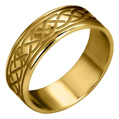 Amazon Brass Ring Celtic Knot Symbol Of Eternal Life 10