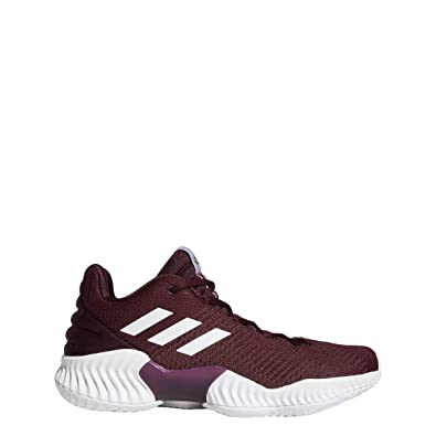 adidas Pro Bounce 2018 Low Shoe - Mens Basketball 5 Maroon/White