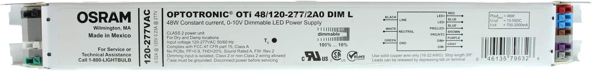 Osram OTi50//120-277//1A4 DIM-1 L 50W 0-10V Dimmable LED PSU **Free Shipping**