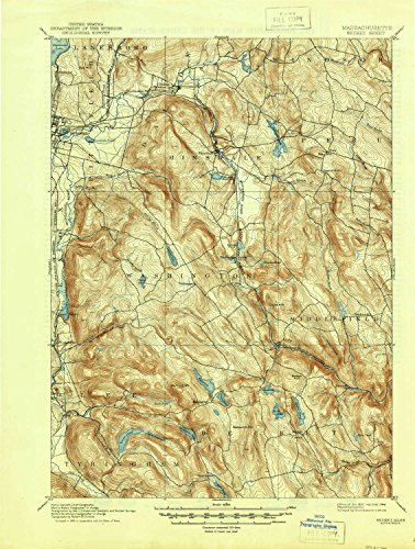 (YellowMaps Becket MA topo map, 1:62500 Scale, 15 X 15 Minute, Historical, 1897, Updated 1946, 20.9 x 15.8 in - Polypropylene)