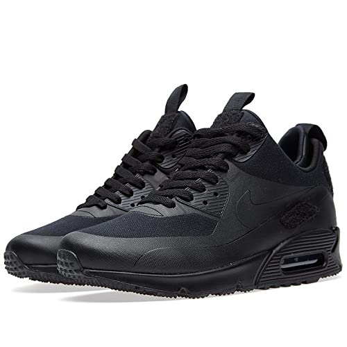 meet 51431 b22c5 Nike Mens Air Max 90 Sneaker Boot SP Canvas Trainer Black Size 6 UK