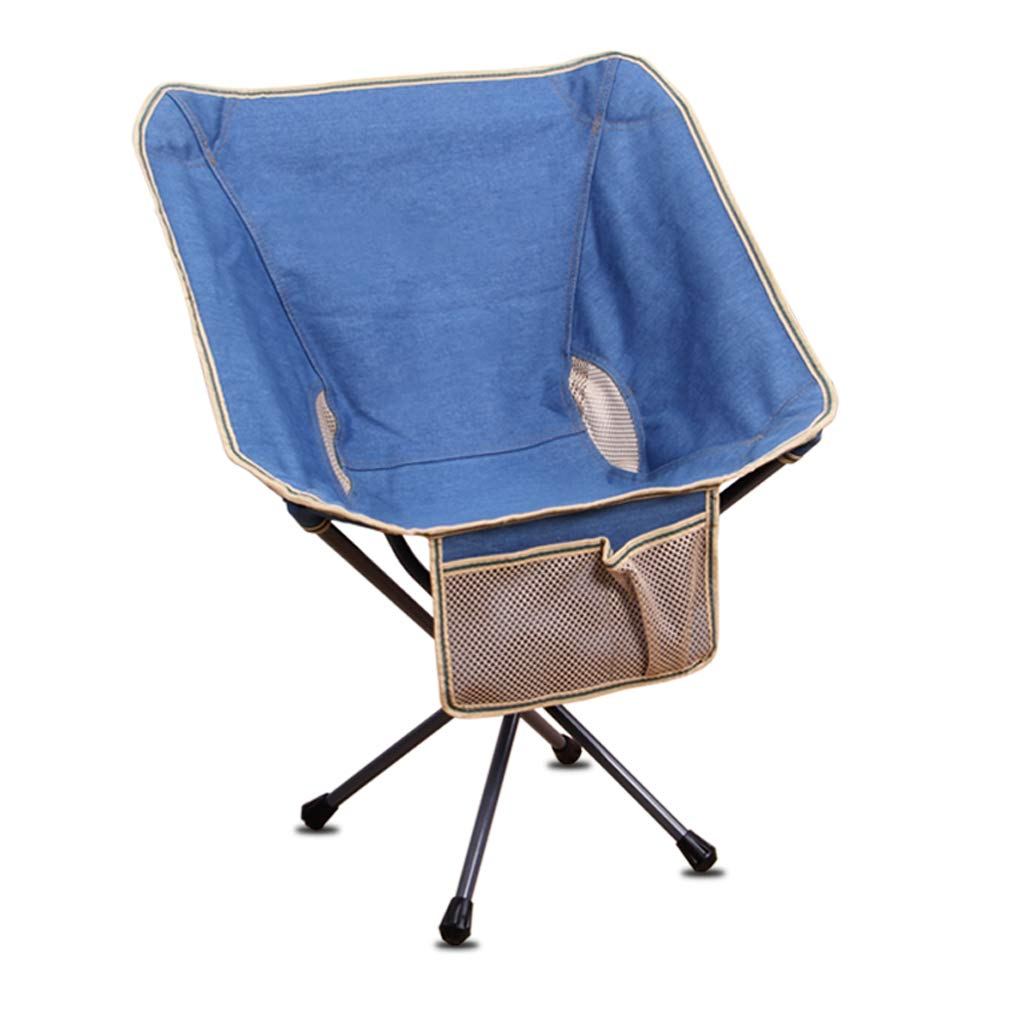DHMHJH Outdoor Folding Chair Beach Camping Fishing Sketch Chair (Color : Blue)