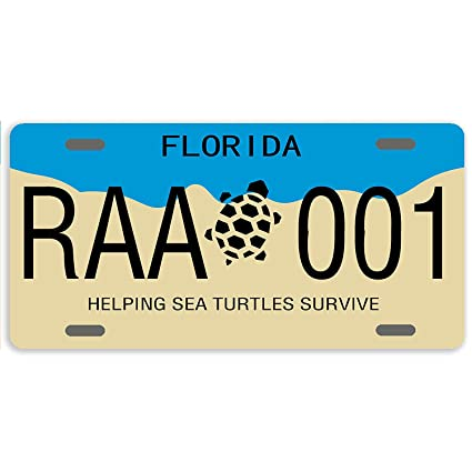 Florida Personalized License Plates >> Amazon Com Florida Helping Sea Turtles Survive Custom