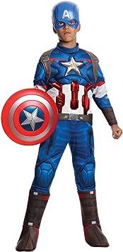 Rubies Disfraz infantil de Capitán América en Los Vengadores: La ...