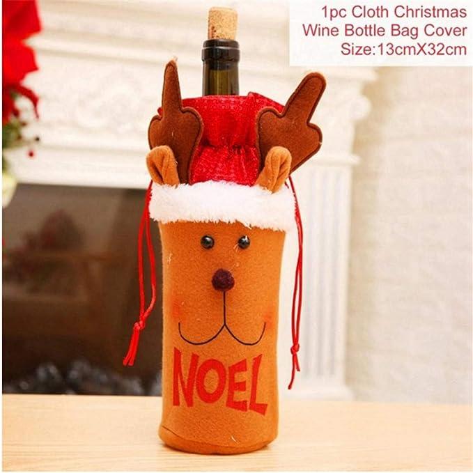 Shuangklei Bolsa De Botellas De Navidad Adornos De Navidad Colgantes De Navidad Adornos Decoraciones De Navidad para El Hogar, 2 Piezas: Amazon.es: Hogar