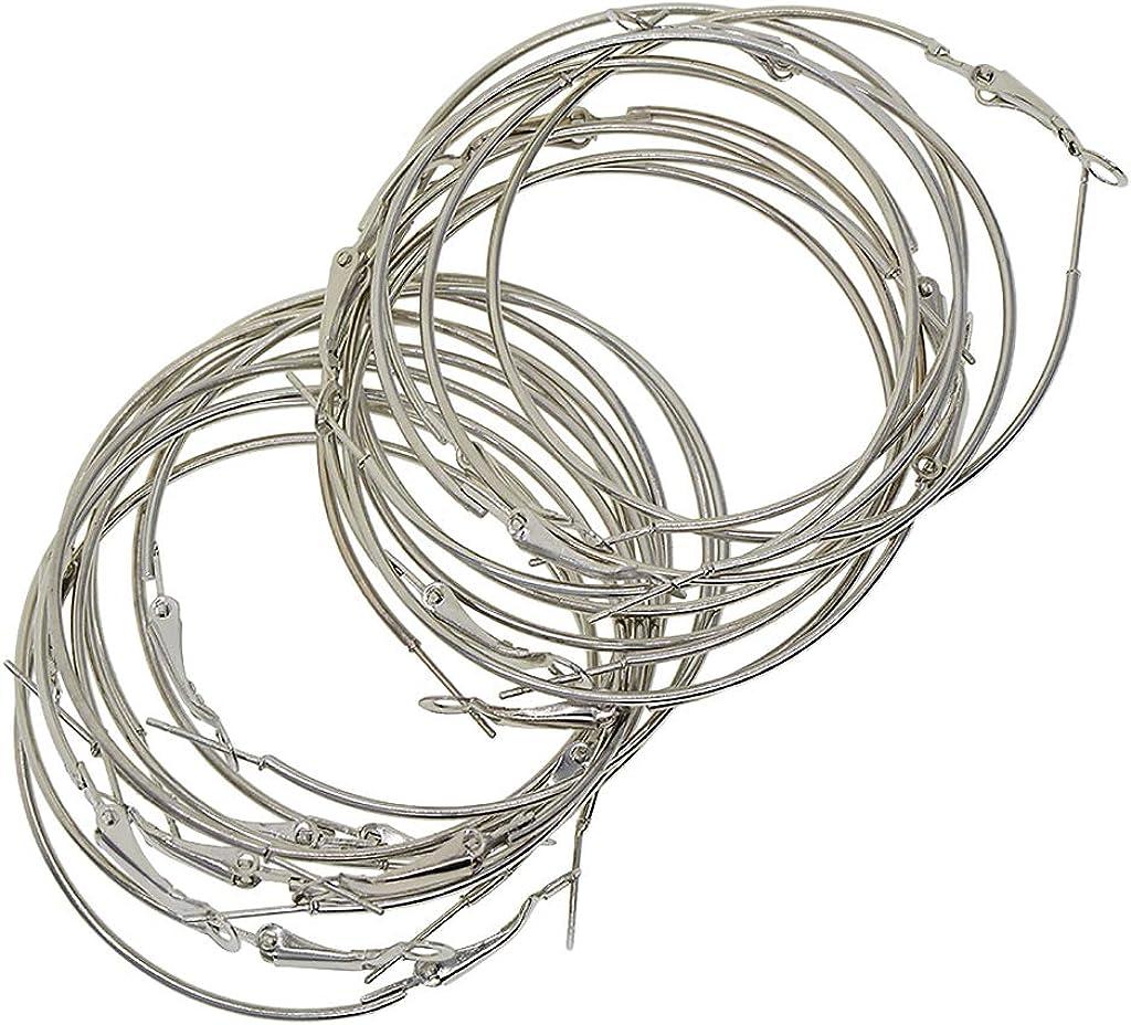 P prettyia 20unidades color blanco k chapado en oro pendientes alambre Base Pendientes Resultados para hacer joyas