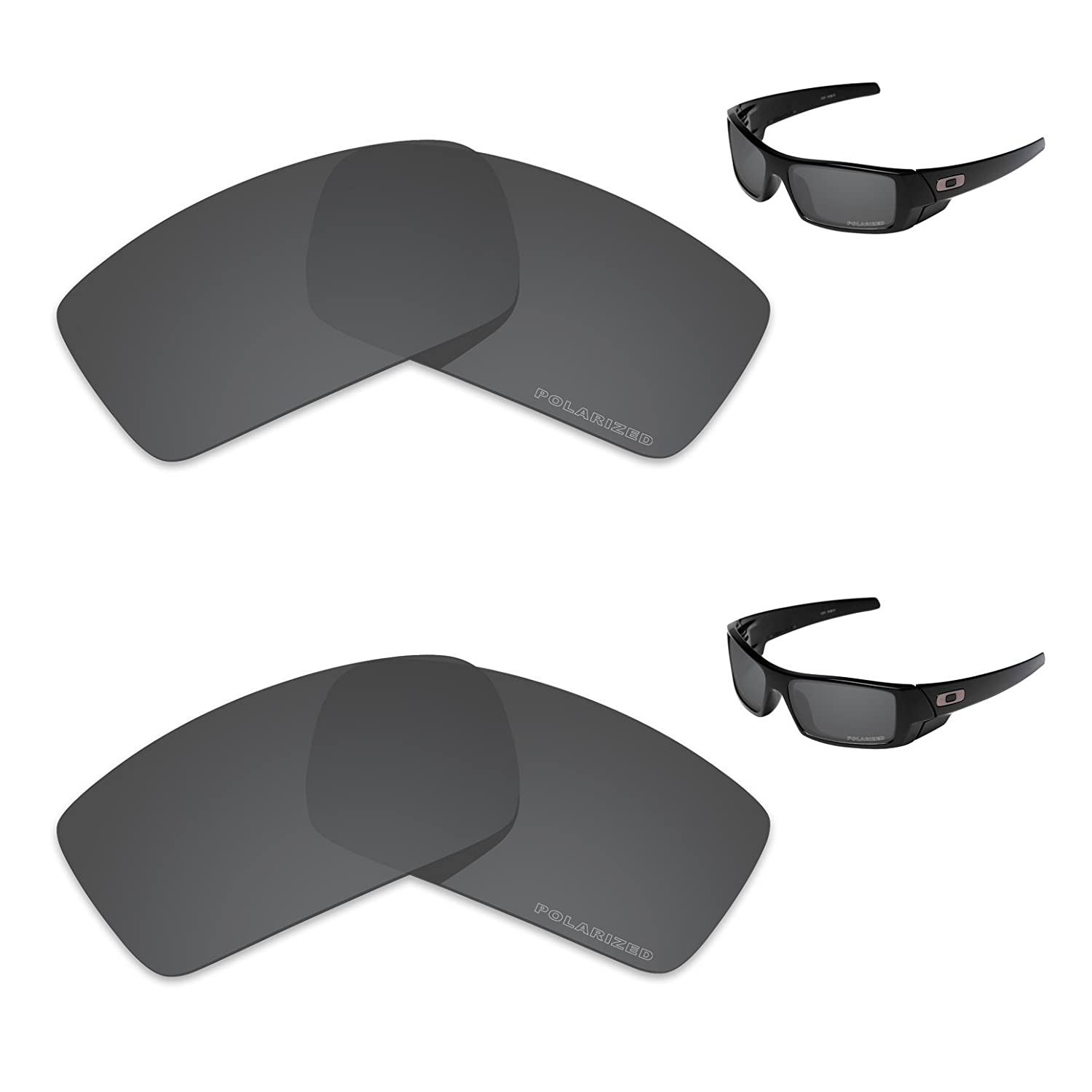246edbf9cf Amazon.com  Tintart Performance Replacement Lenses for Oakley Gascan  Polarized Etched - Value Pack  Clothing