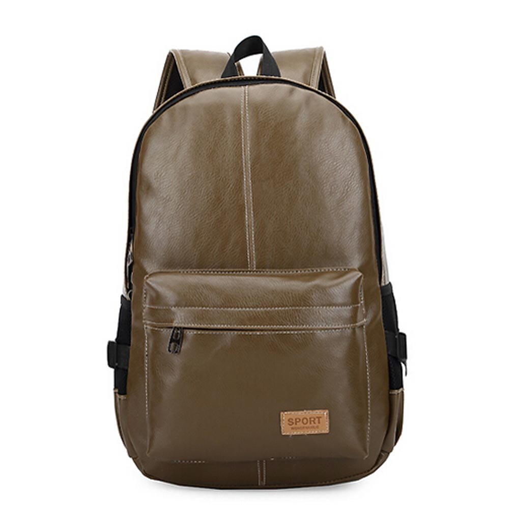 ae09d6c75dfd LYMBABE Classic PU Backpack- Unisex Leather Vintage Fashion School ...