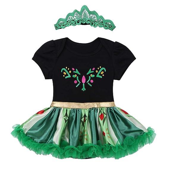 CHICTRY Traje de Princesa para Bebé Niña Pelele Disfraz ...