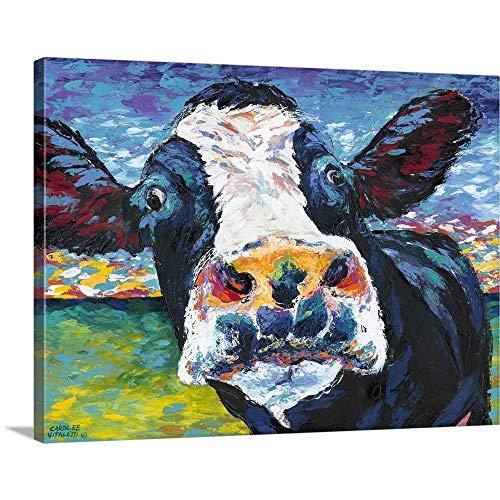 Curious Cow II Canvas Wall Art Print, 16 x12 x1.25