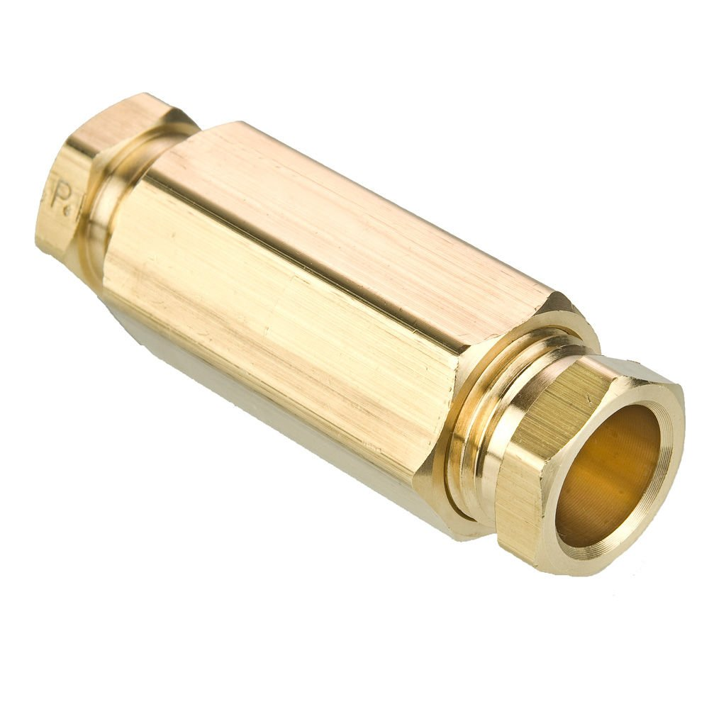 Parker 62HD-6 Flareless Tube Fitting Brass Hi-Duty Tube to Tube 3//8 3//8 Compression Union