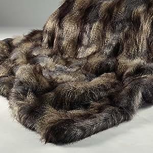 Blue mountain manta de lujo de piel sint tica de pelo - Mantas de piel sintetica ...
