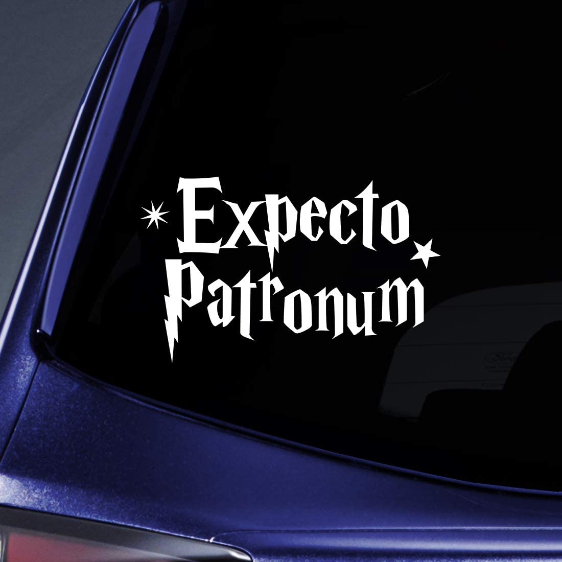 """Bargain Max Decals Expecto Patronum Sticker Decal Notebook Car Laptop 5.5"""" (White)"""
