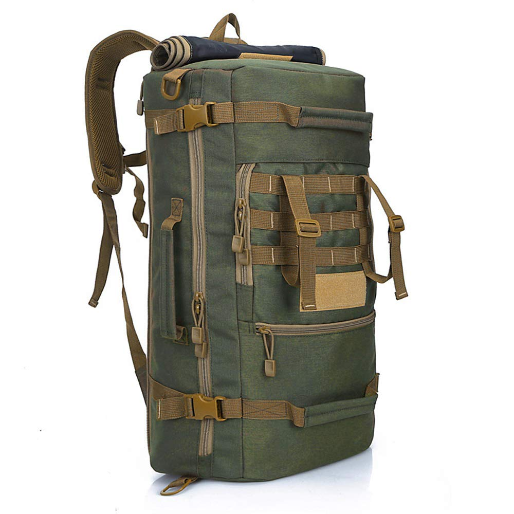 Leisure Sports Handy Large Capaciry 50L Shoulder Backpack Daypack for Outdoor Camping Skiing Running Hiking Cycling Large Capacity Portable Backpack Color : Army Green