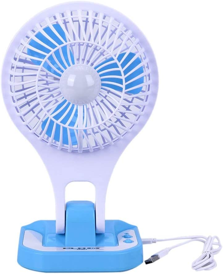 New Mini USB Fan Small LED Lamp Student Dormitory Office Eye Protection Portable Cooling Fan with USB Charging Cable PrinceShop
