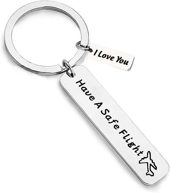 travel keychain Keychain pilot gift Airplane Keychain fly safe keychain -Pilot keychain