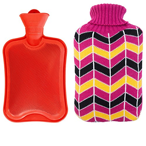 Xerhnan Rubber Hot Water Bottles bag with Knit Cover 1.8L Capacity - - Boxing Day Canada Best Buy