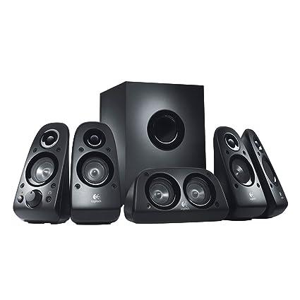 5884b379aa3 Logitech Z506 6-Piece 5.1 Channel Surround Sound Speaker System, Black  (Certified Refurbished