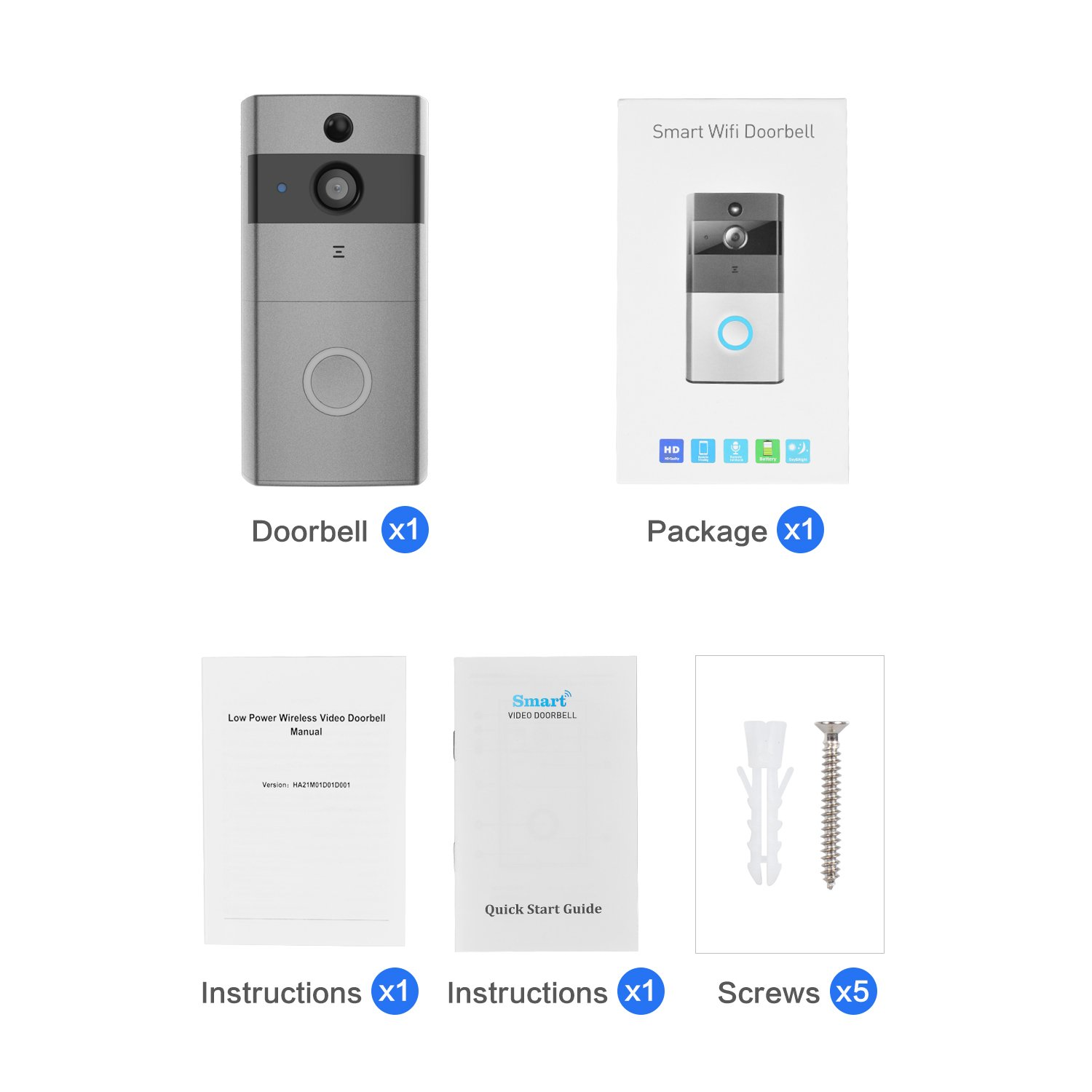 Video Doorbell, Safevant Wi-Fi Doorbell Camera 720P HD Home Security Camera with Two-Way Talk & Video,Infrared Night Vision,PIR Motion Detection Wireless Doorbell for iOS and Android Smart Phone by SAFEVANT (Image #8)