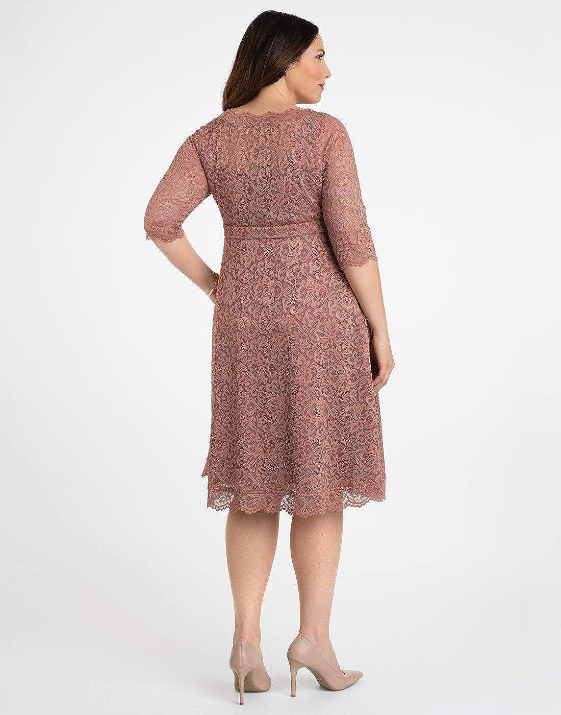 c73aec730de Kiyonna Women s Plus Size Lacey Cocktail Dress Mauve Blush at Amazon  Women s Clothing store