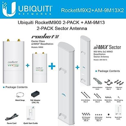 Amazon Ubiquiti RocketM900 2 PACK 900MHz Airmax Sector Antenna 13dBi 120deg Home Audio Theater
