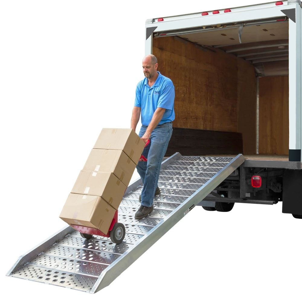 12 Aluminum Box Truck Walk Ramp for 12-36 Load Height