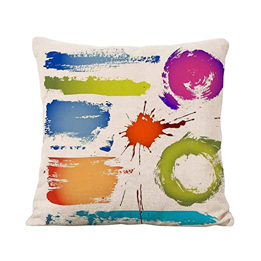BIGBOBA. Fundas de Almohada con diseño Colorear Salpicaduras ...