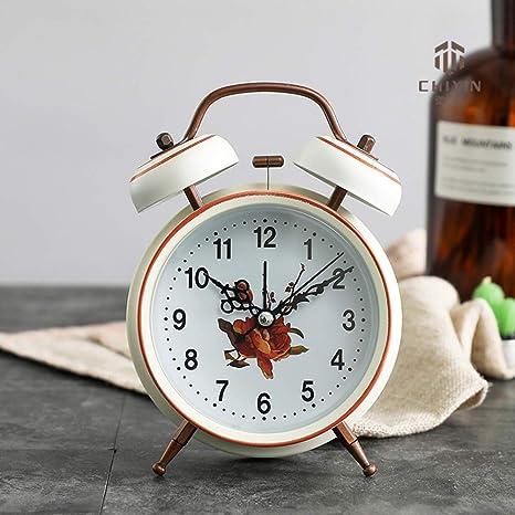 DDGOD Vendimia Reloj,Clásico Viaje Reloj Despertador ...