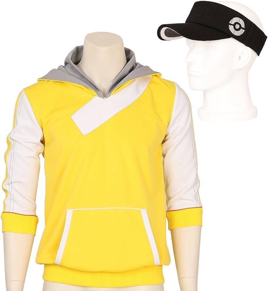 CG disfraz hombre Pokemon Go Trainer Amarillo Sudadera con Capucha ...