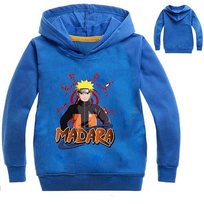 Unisex Naruto Estampado para niños Suéter de Manga Larga con Capucha suéter Sudaderas con Capucha de Moda para niños y Adolescentes con Capucha: Amazon.es: ...