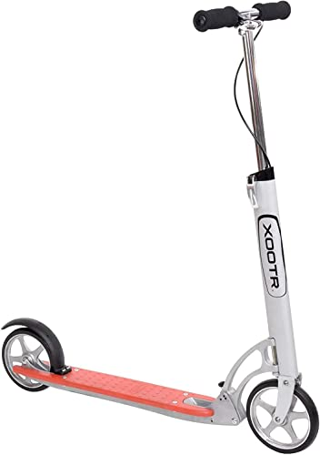 XOOTR Dash Teen Adult Kick Scooter – 800 lb Capacity – Life Long Backing – QuickClick Latch Folding Mechanism – Front Rear Brake